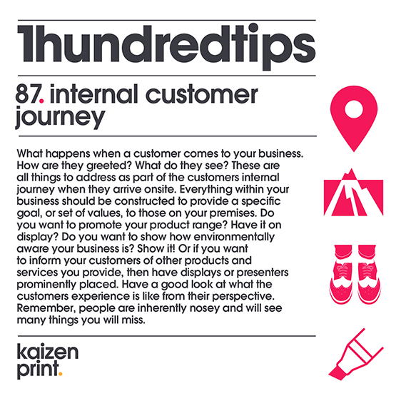 87 internal customer  journey