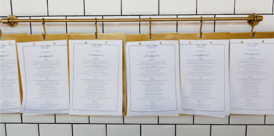 French village food menus