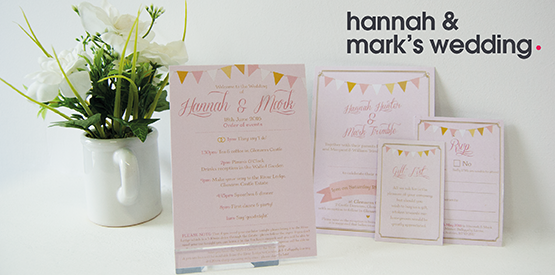 Hannahs wedding stationery