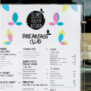 Slims menu design