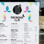 Slims menu design