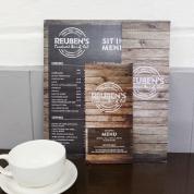 Reubens menu design