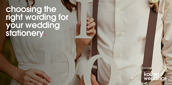 choosing your wedding wording